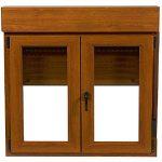 ventana de madera con persiana precio