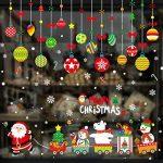 decoracion de ventanas de cocina navideñas
